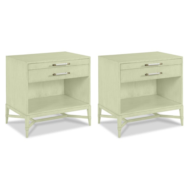 Casa Cosima Home Shea Bedside Table in Guilford Green - a Pair For Sale - Image 4 of 4