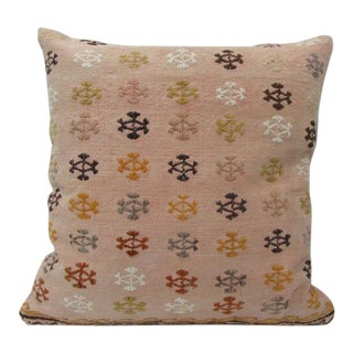 Embroidered Decorative Kilim Pillow For Sale