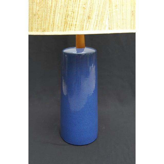 Gordon Martz Blue Pottery Table Lamp - Image 3 of 5