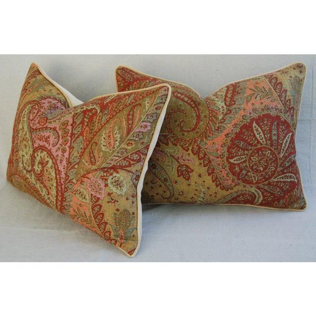 Designer Brunschwig & Fils Paisley Pillows - Pair - Image 6 of 9
