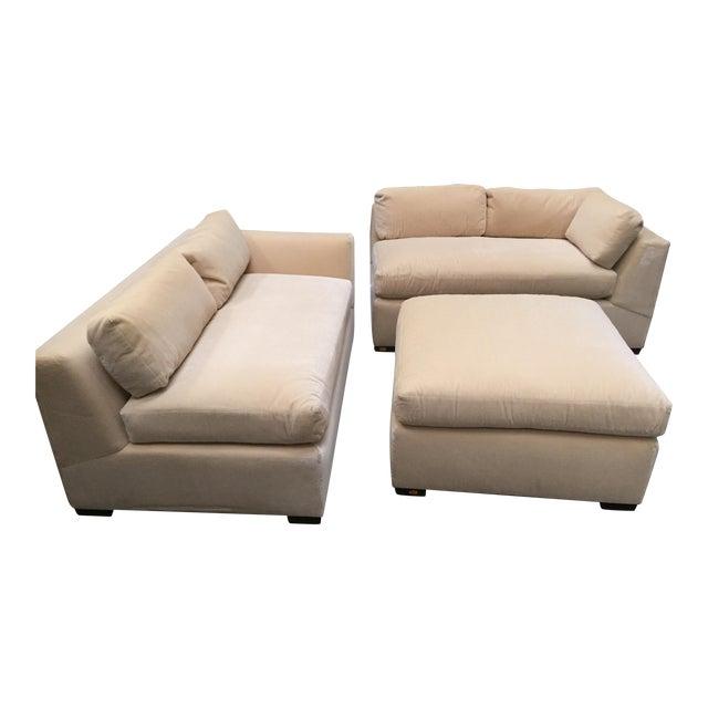 Enjoyable Custom Mohair Sectional Sofa Ottoman Ibusinesslaw Wood Chair Design Ideas Ibusinesslaworg