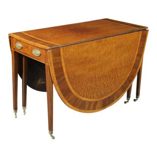 George III Drop-Leaf Dining Table