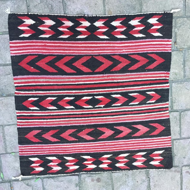 "Vintage Navajo Style Rug, overall in very good condition. Looks great. Measures 30"" x 30."""