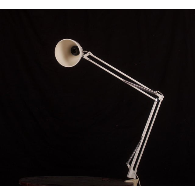 Metal White Table Lamp by Luxo, 1980s For Sale - Image 7 of 10