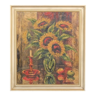 Impressionistic Sunflower Still-Life For Sale