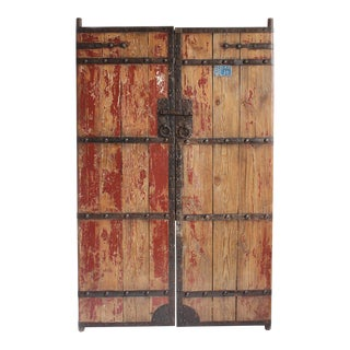 Antique Wood & Iron Garden Gate For Sale
