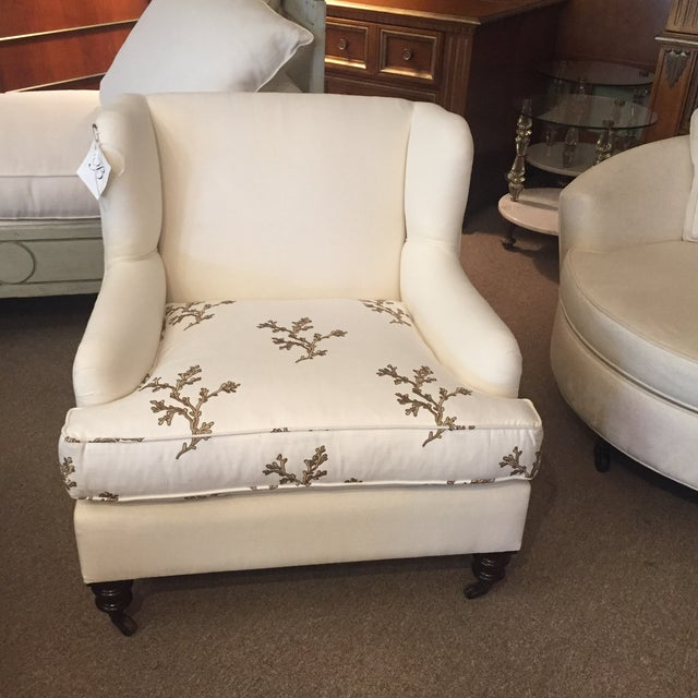 Barclay Butera Taylor Wing Chair - Image 5 of 11