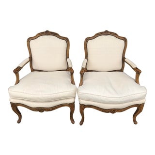 Vintage Baker French Provincial Bergere Chairs For Sale