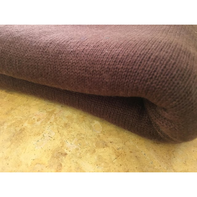 Chocolate Brown Cashmere Blanket - Image 7 of 10