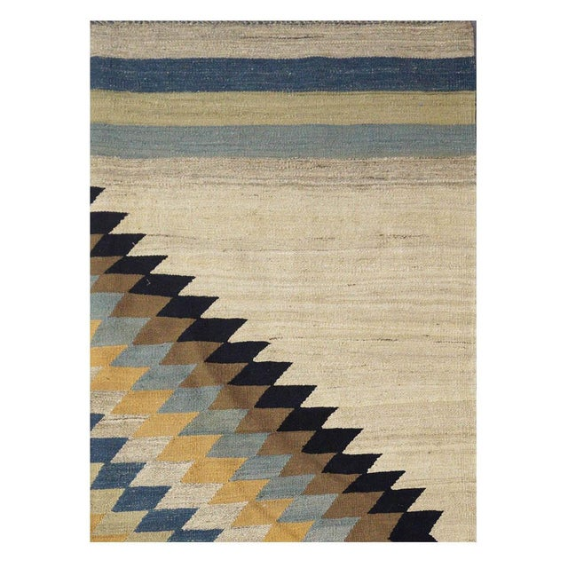 "New Afghan Kilim Rug - 6'7"" x 9'7"" For Sale - Image 5 of 5"