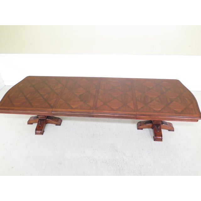 Traditional Ethan Allen Tuscany Collection Walnut Finish Dining Table For Sale - Image 10 of 13