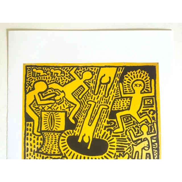 This Keith Haring Estate rare out of print vintage 1993 collector's Pop Art offset lithograph print is an incredibly...
