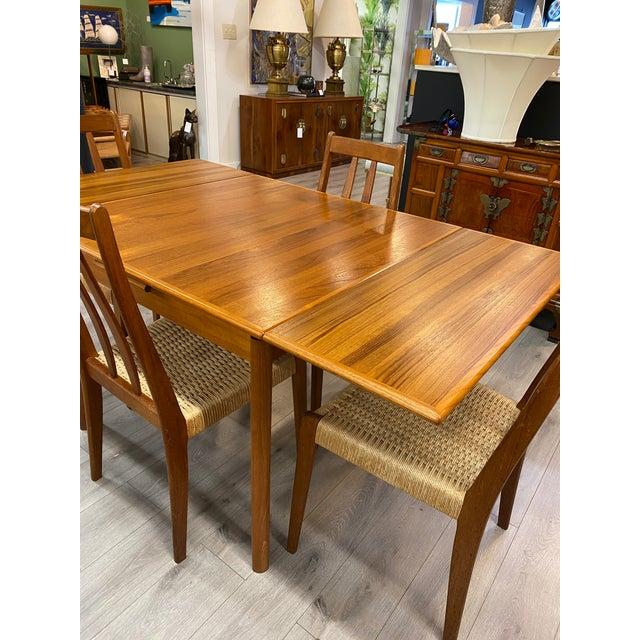 1960s Danish Modern 1960s Brdr Furbo Teak Dining Table & 4 Chair MCM Midcentury Modern For Sale - Image 5 of 9
