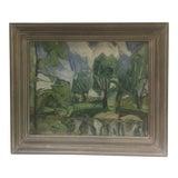 Image of Richard Schantz Modernist Landscape Oil Painting For Sale