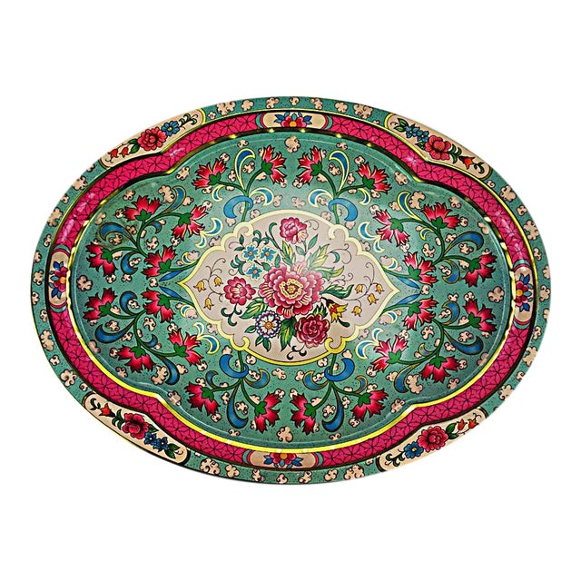 Vintage Floral Metal Tray by Daher - Image 1 of 6