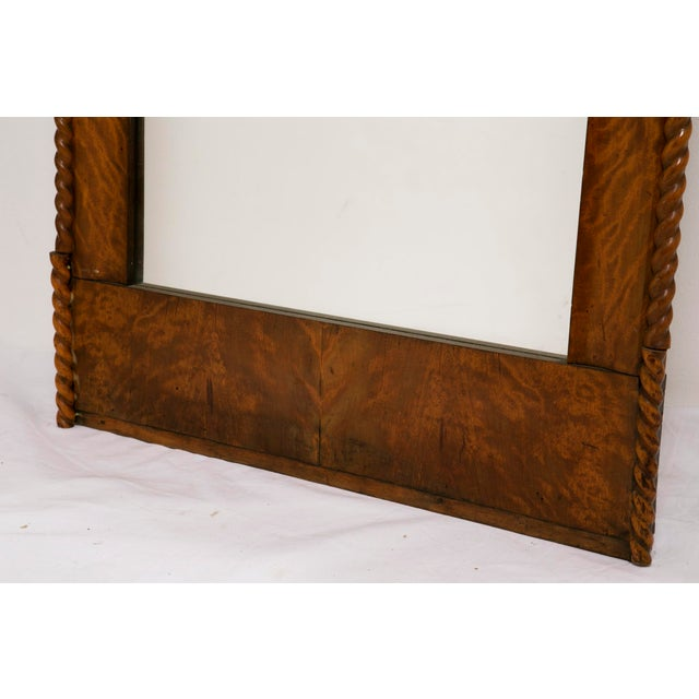 American Classical Mid 19th Century American Curly Maple Mirror For Sale - Image 3 of 6