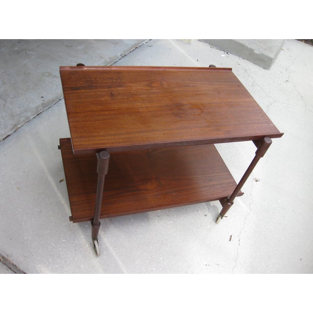 Danish Modern Teak Bar Cart by Poul Hundevad - Image 5 of 6
