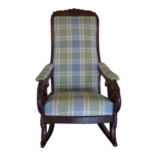 Antique Victorian Walnut Rocking Chair