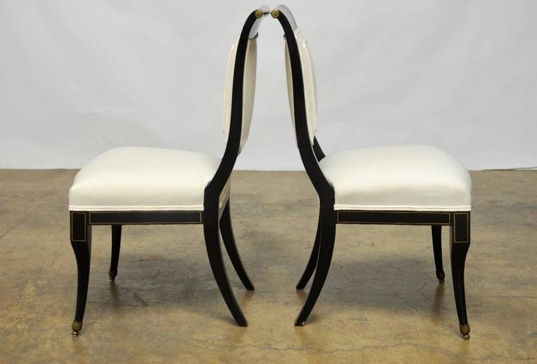 This Is An Elegant Pair Of Neoclassical/regency Chairs By Baker Furniture  Co. Featuring