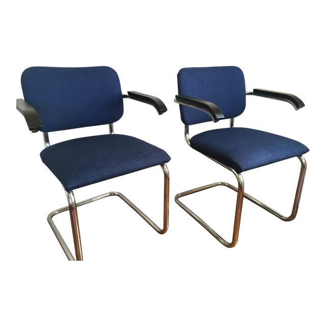 Marcel Breuer for Thonet Cesca Chairs - A Pair For Sale