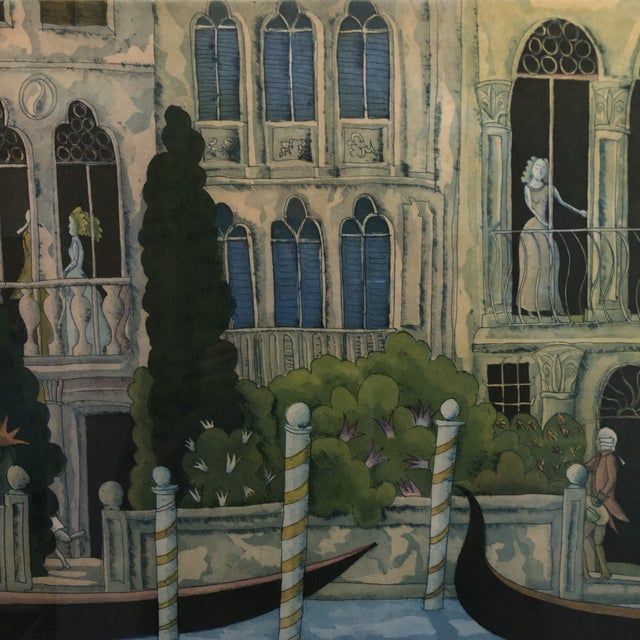 Thomas McKnight Framed Color Etching Venetian Idyll 99/100 Pencil Signed 1981 For Sale In Minneapolis - Image 6 of 13