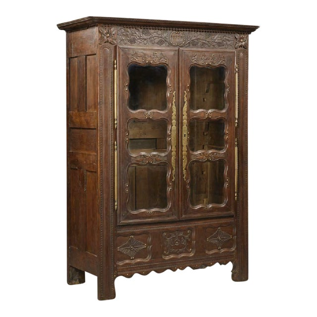 1800s Antique French Henri Ii Style Carved Oak Armoire Chairish