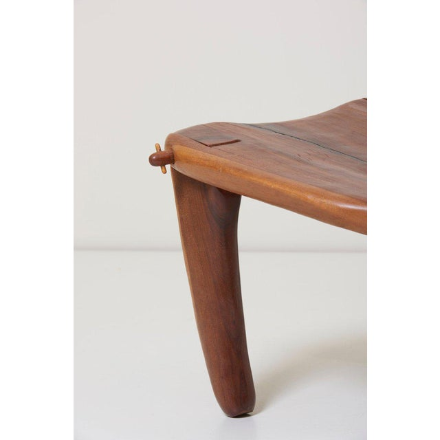 Brown Pair of Craft Wooden Studio Lounge Chairs by Don Shoemaker, Mexico, 1960s For Sale - Image 8 of 13