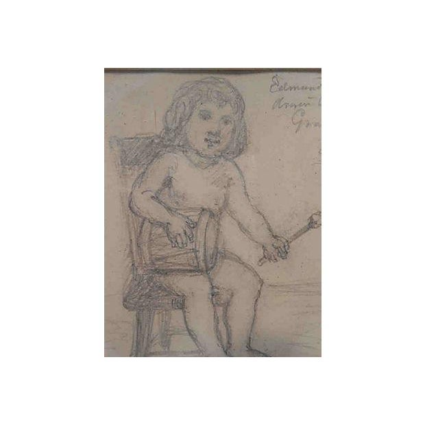 John Cranch Children Drawings For Sale - Image 4 of 6