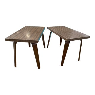 Thonet Mid Century Walnut End Tables - a Pair For Sale