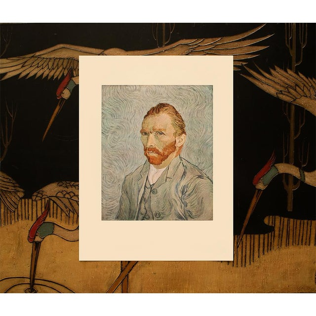 """1950s 1950s Vincent Van Gogh """"Self-Portrait"""", Post-Impressionist First Edition Lithograph For Sale - Image 5 of 10"""