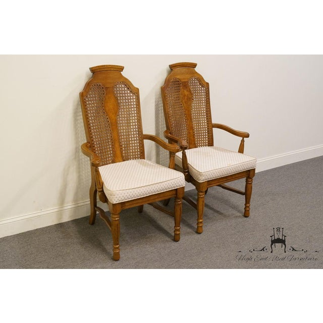 Dixie Henry Link Dixie Contemporary Style Cane Back Dining Arm Chairs - a Pair For Sale - Image 4 of 13