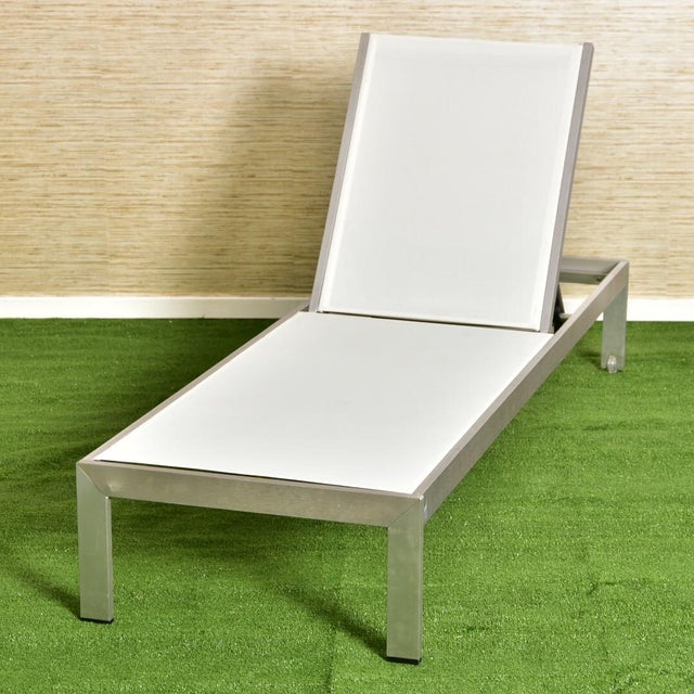 Palm Springs Outdoor Aluminum Lounge Chair For Sale - Image 13 of 13
