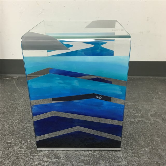 "Modern Tony Sosa for Glassisimo ""Ocean Feel"" Side Table For Sale - Image 3 of 10"