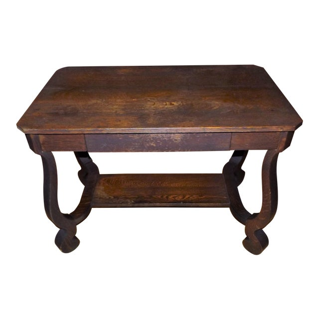Antique Walnut Library Desk For Sale