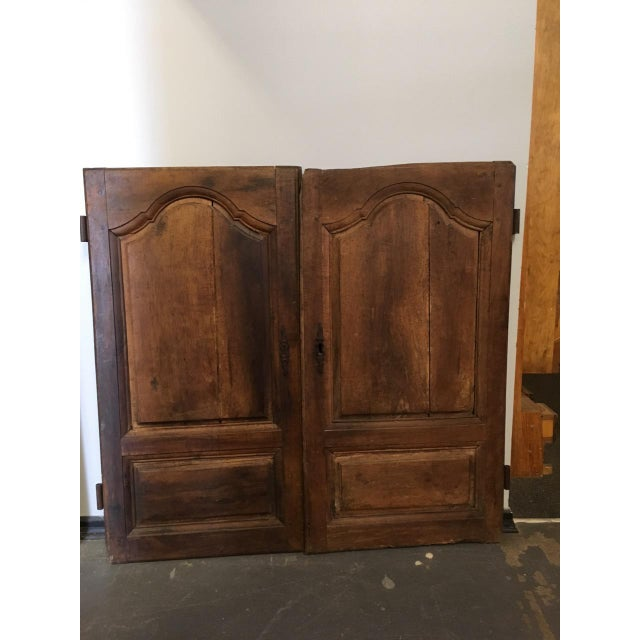 Late 18th Century Walnut French Cabinet Doors- a Pair For Sale - Image 11 of 11