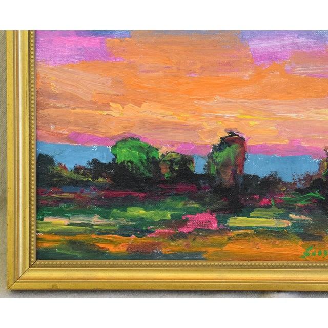 Juan Pepe Guzman Ojai California Sunset & Landscape Painting For Sale In Los Angeles - Image 6 of 9