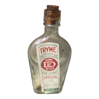 Prohibition Era Medicine Alcohol Bottle For Sale