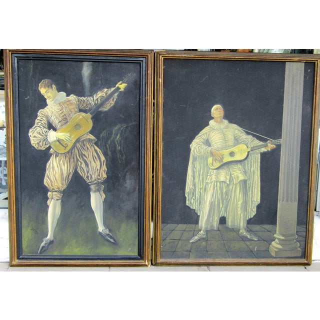 Traditional Herman Heyer Vintage Musician Oil Panels - A Pair For Sale - Image 3 of 9