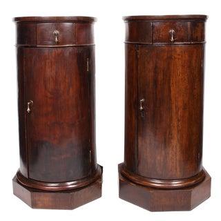 19th C. Italian Column Pedestal Cabinets - a Pair