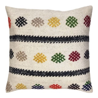 "Vivacious Vintage Kilim Pillow 20"" For Sale"