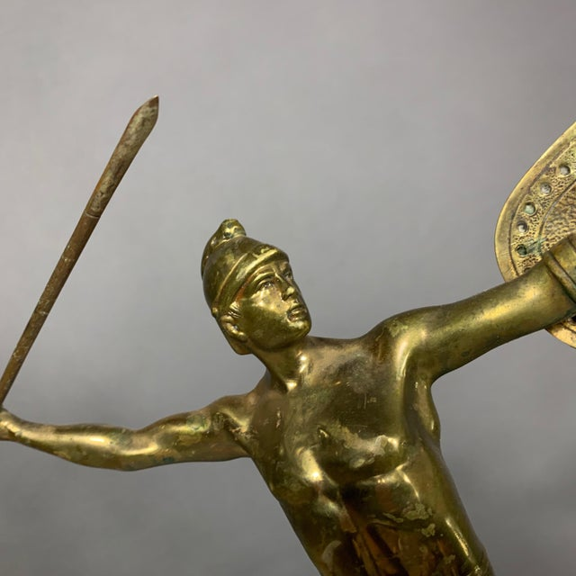 F. Thierman Bronze Gladiator Sculpture C.1900, Germany For Sale In New York - Image 6 of 10