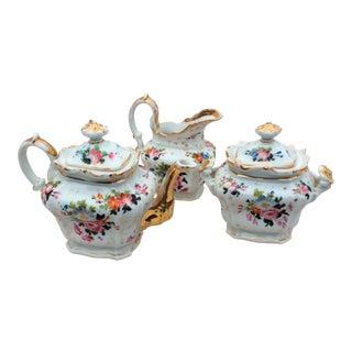 Old Paris Porcelain Tea Set - Set of 3 For Sale