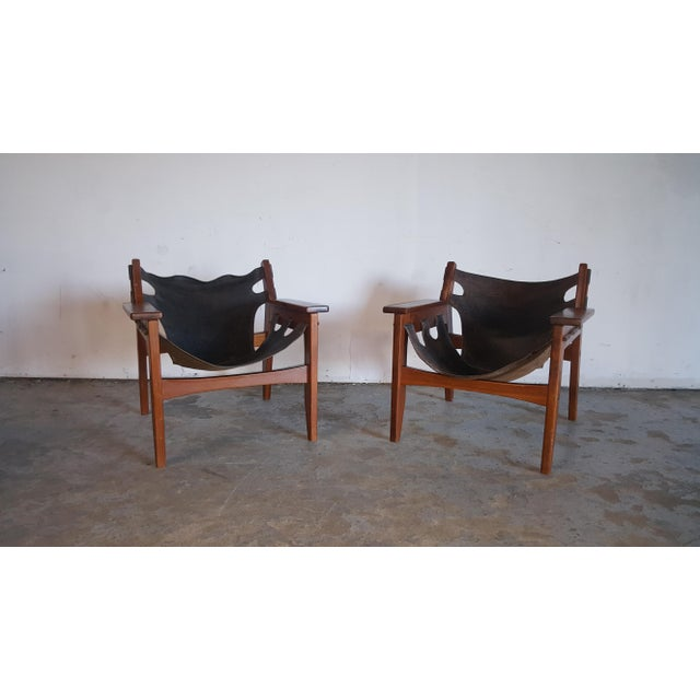 1970s Mid-Century Modern Sergio Rodrigues for Oca Industries Kilin Lounge Chairs - a Pair For Sale - Image 9 of 9