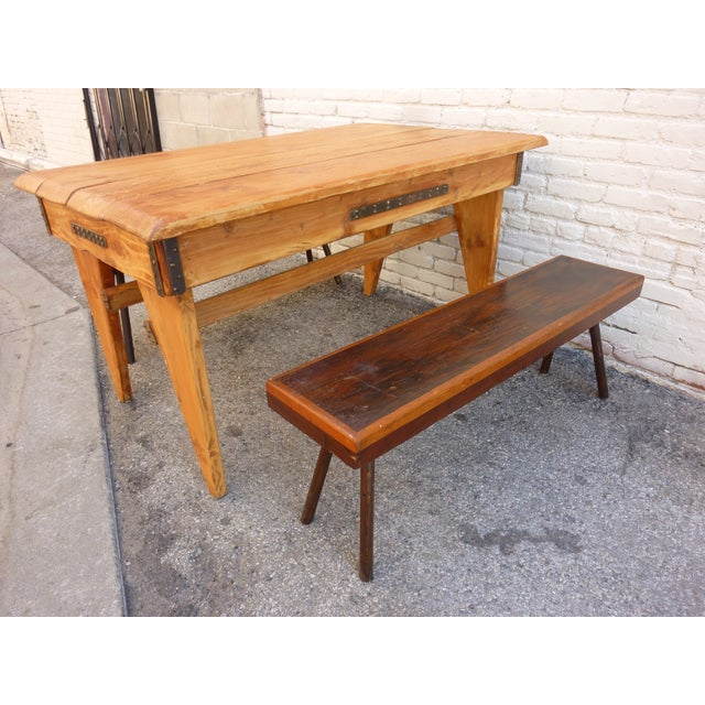 Shajan Table And Two Benches - Image 4 of 6
