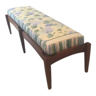 Mid-Century Modern Solid Walnut Bench