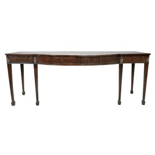 George III Mahogany Serving Table For Sale