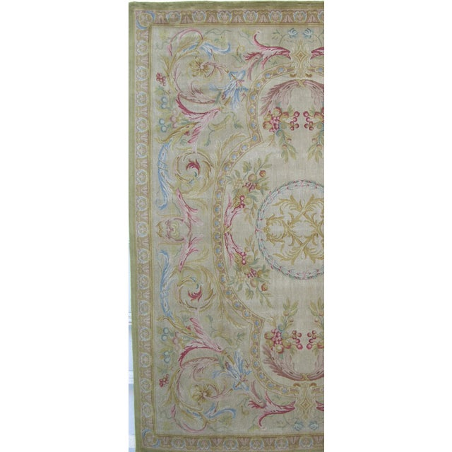 "Abstract Savonnerie Area Rug-10'0"" X 8'0"" For Sale - Image 3 of 6"
