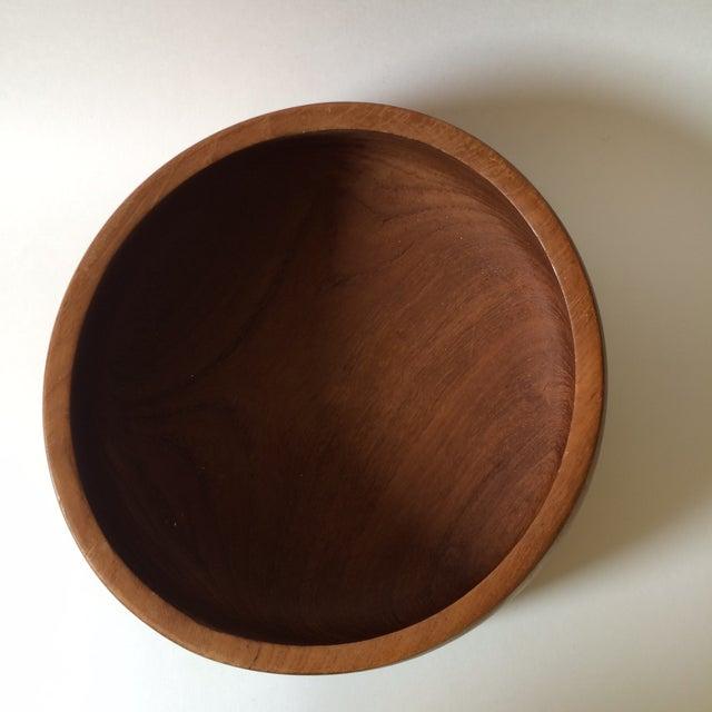 Danish Modern Mid-Century Teak Wood Bowl by Kalmar For Sale - Image 4 of 5