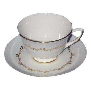 Royal Doulton Rondo Teacup & Saucer Set For Sale