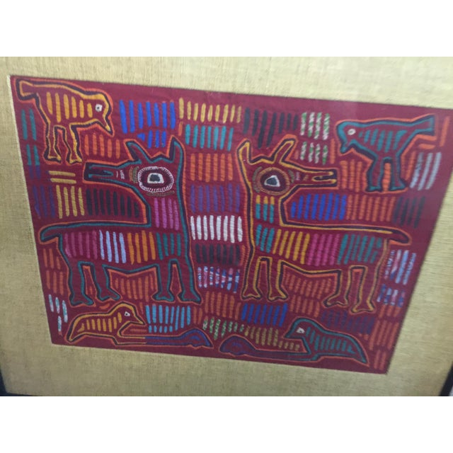 1960s Panama Textile Art Ethnographic Mola a Pair Kuna For Sale - Image 5 of 7
